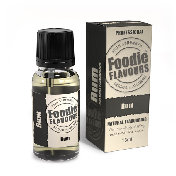 Foodie Flavours Rum Natural Flavouring 15ml