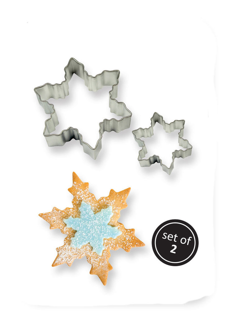 PME Set of 2 Snowflake Cutters