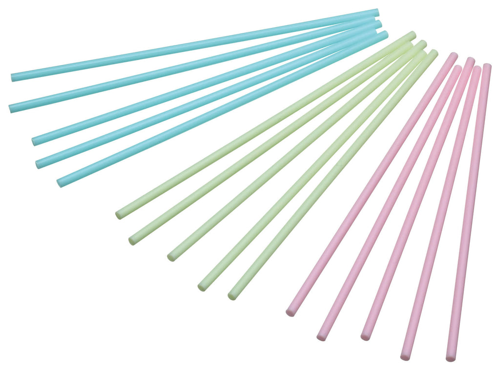 Pack of 60 Plastic Coloured Cake Pop Sticks - 15cm