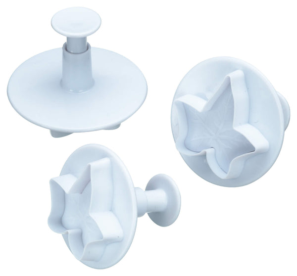 Set of 3 Ivy Fondant Plunger Cutters