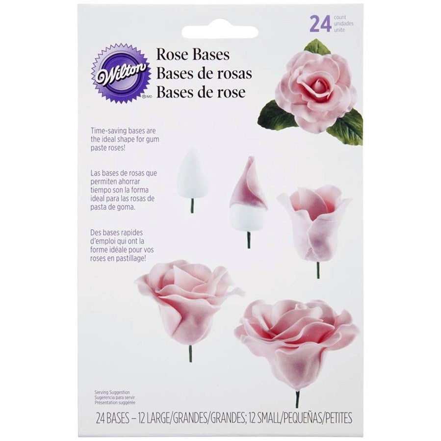 Wilton Rose Bases - 24 Pack