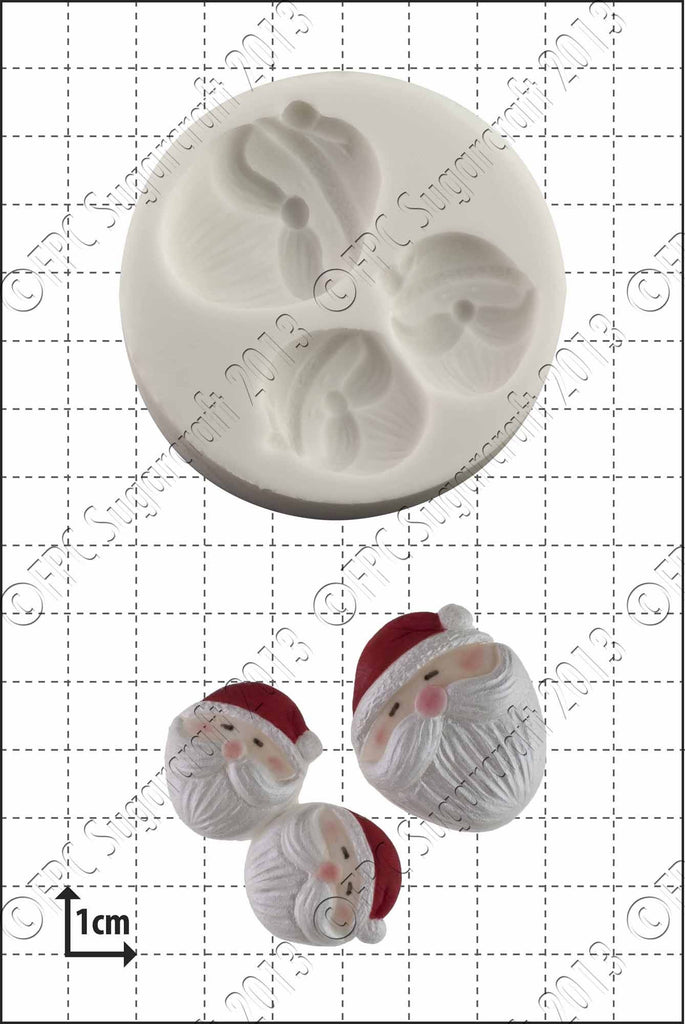 FPC Mini Santa Faces Mould
