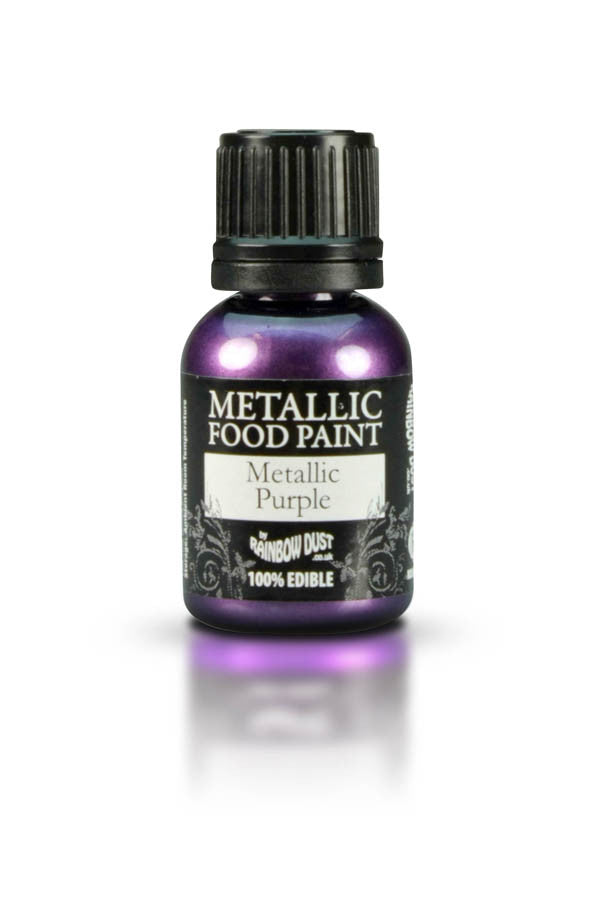 Rainbow Dust Metallic Food Paint - Metallic Purple 25ml