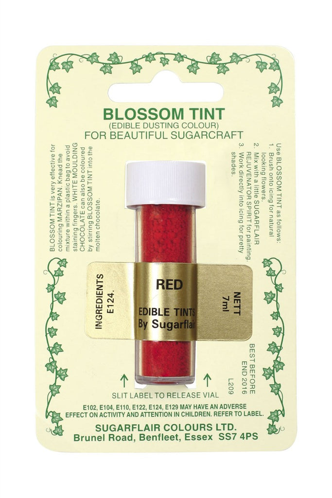 Sugarflair Blossom Tint Dusting Colours - Red