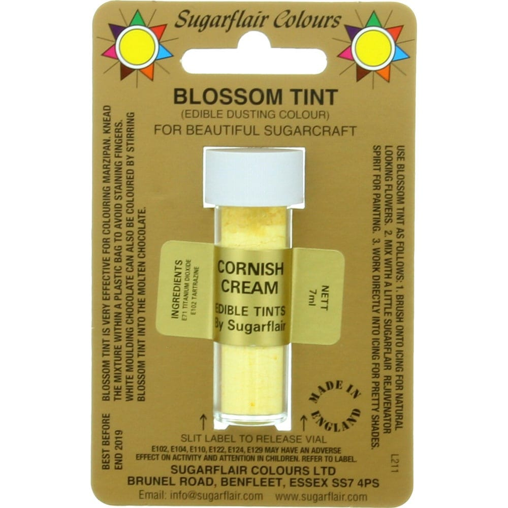Sugarflair Blossom Tint Dusting Colours - Cornish Cream