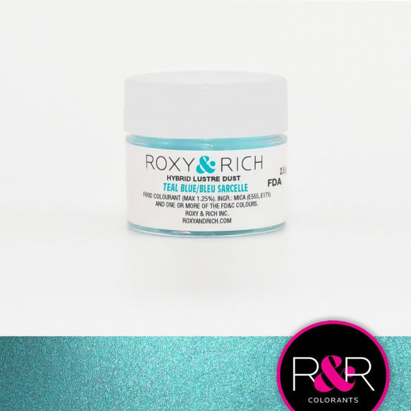 Roxy & Rich Hybrid Lustre Dusts - Teal Blue
