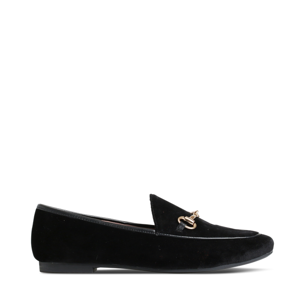 Stylesnob Aggie AW17 - Beautiful velvet loafer in charcoal with a golden buckle