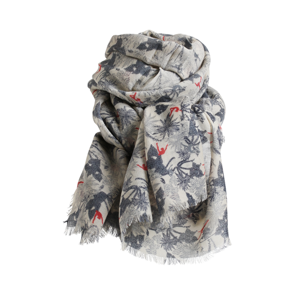 Stylesnob AW17 - Ballet scarf in petrol, 100% wool twill with eyelash fringes