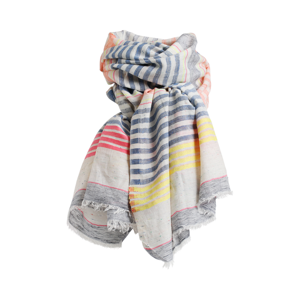 BARBA SCARF DENIM CORAL