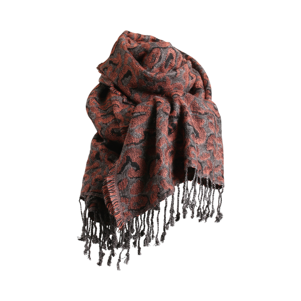 Stylesnob AW17 - Beth scarf tan with fringes