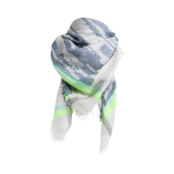 CHAN SCARF BLUE/GREEN