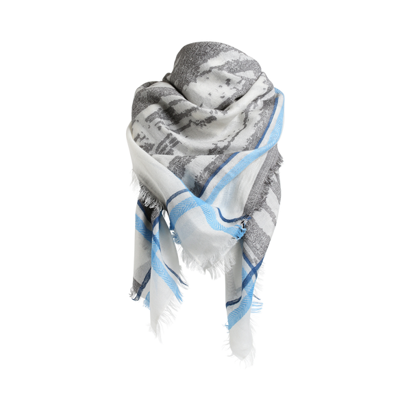 CHAN SCARF BLUE/GREY