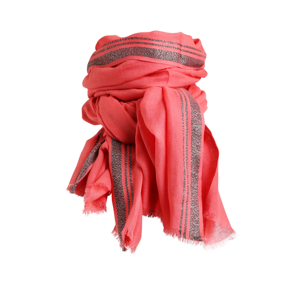 CLEMENTINE SCARF CORAL GREEN