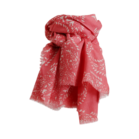 Stylesnob AW17 - JIN a soft paisley printed woolen scarf, old rose