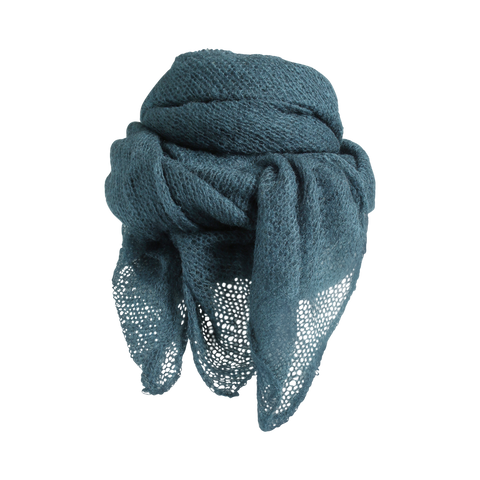 Stylesnob AW17 - Moni knitted mohair scarf, petrol