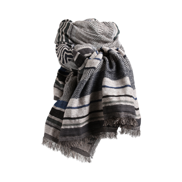 Stylesnob AW17 - RAVEN an exclusive multi weaved scarf in blue