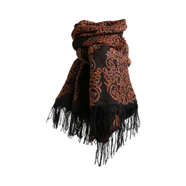 Stylesnob AW17 - SAMI a rough weaved mohair scarf, brown