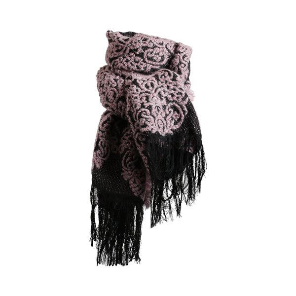 Stylesnob AW17 - SAMI a rough weaved mohair scarf, rose