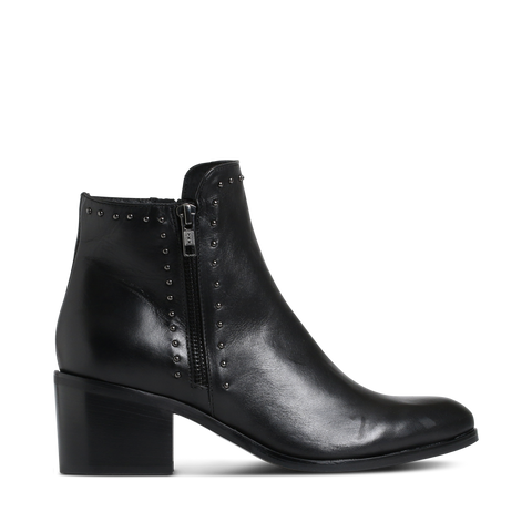 Stylesnob AW17 - Tyra a flashy studded calf leather boot set on wooden heel