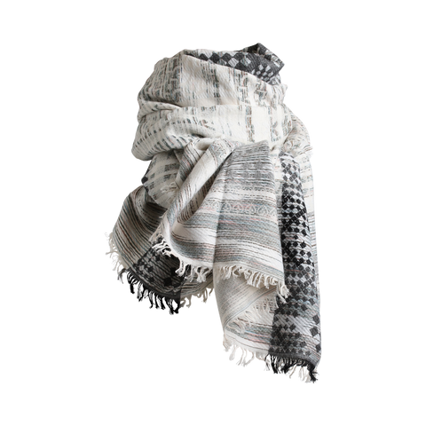 Stylesnob AW17 - VAN graphic printed scarf, grey