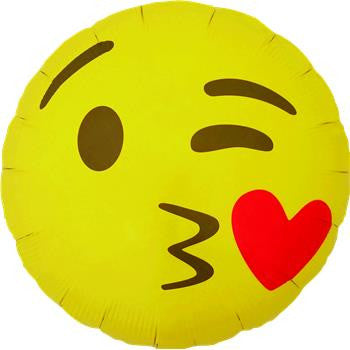 Emoji Kissing Eyes 46cm (North Star) - Festbutikken AS