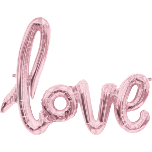 Love Script - Rose Gold (102cm) - Festbutikken AS