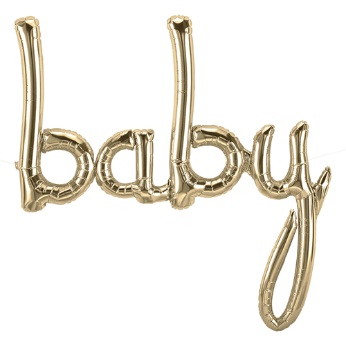Baby Script White Gold For luftfylling - Festbutikken AS