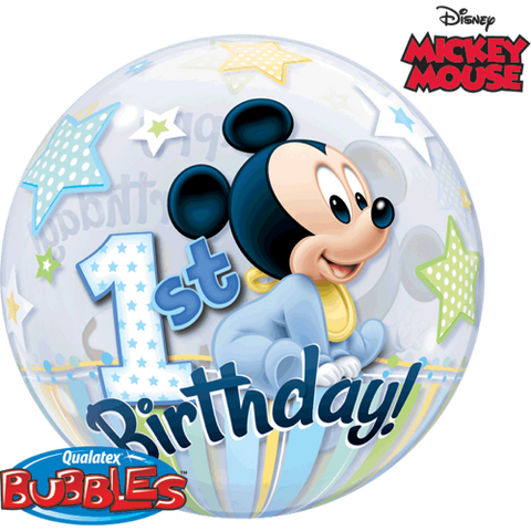 Mickey Mouse 1st Birthday Bubble - Festbutikken AS