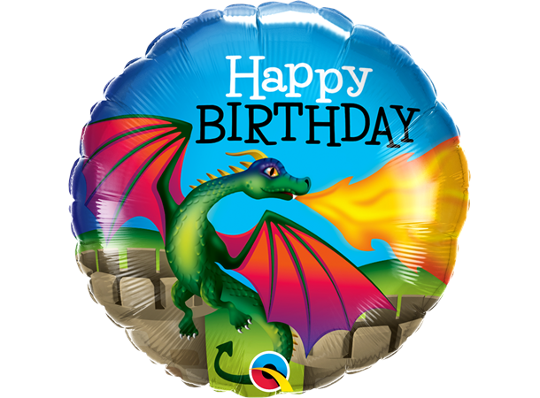 Folieballong Bday Mythical Dragon