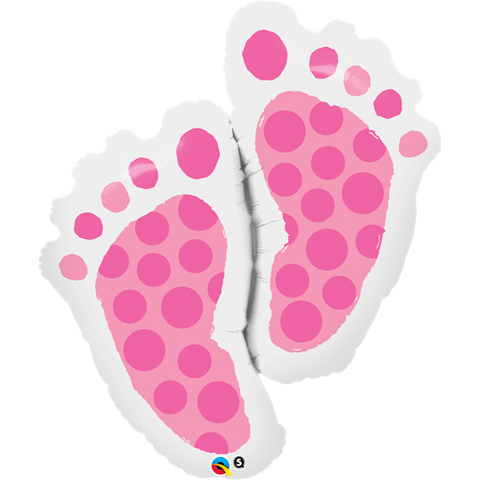 Folieballong Baby Feet Pink - Festbutikken AS