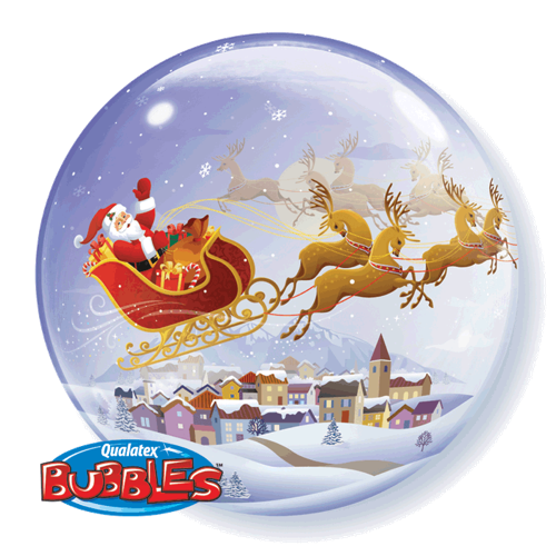 A Visit from St. Nicholas 61cm Double Bubble - Festbutikken AS