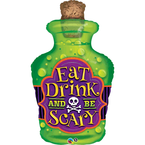 Folieballong Eat Drink and be scary 100cm - Festbutikken AS