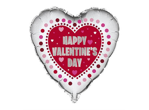 Happy Valentine's Day Folieballong - Festbutikken AS