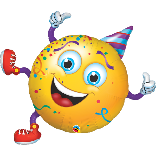 Folieballong Smiley Party Guy 96cm - Festbutikken AS