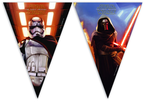 Star Wars The Force Awakens Flagg Banner 2,3m - Festbutikken AS