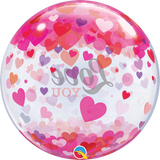Love You Confetti Hearts 56cm Bubble - Festbutikken AS