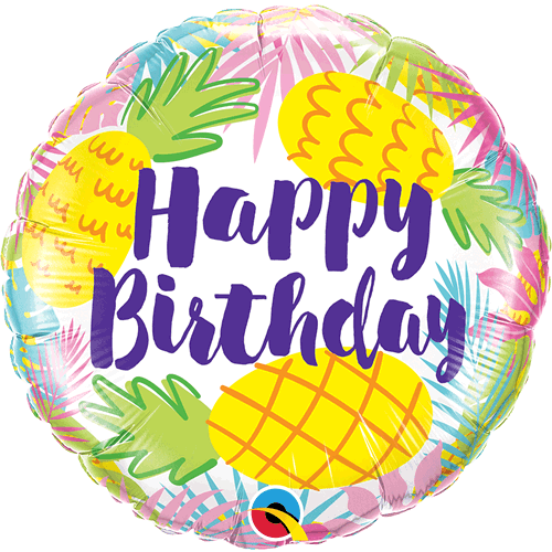 Ballong Birthday Pineapples 46cm - Festbutikken AS