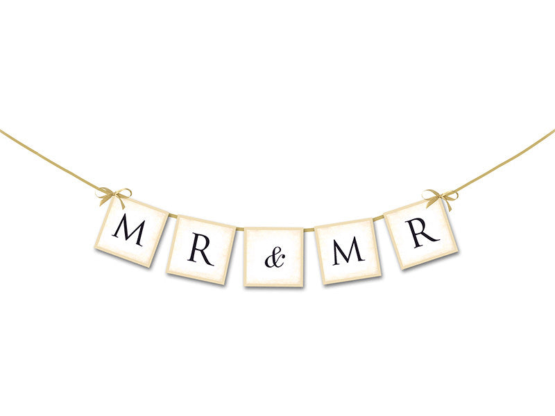 "1 Letterbanner til bil - ca 64 cm - ""Mr/Mr"" - Festbutikken AS"