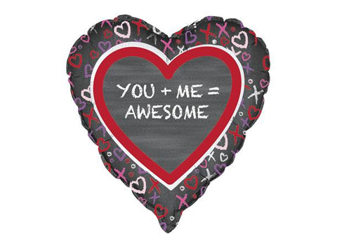 You + Me = Awesome Folieballong - Festbutikken AS