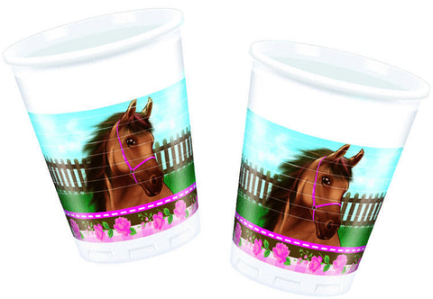 Lovely Horse Plastkopper 8-pk - Festbutikken AS
