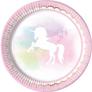 Belive in Unicorns Papptallerken 8-pk - Festbutikken AS
