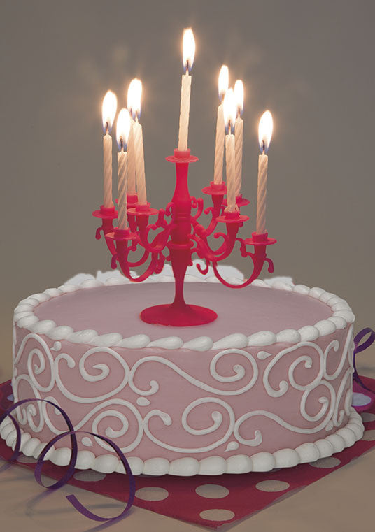 Hot Pink Candelabra Cake Topper - Festbutikken AS