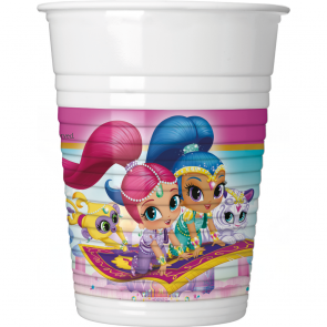 Shimmer & Shine Plastkopper 8-pk - Festbutikken AS