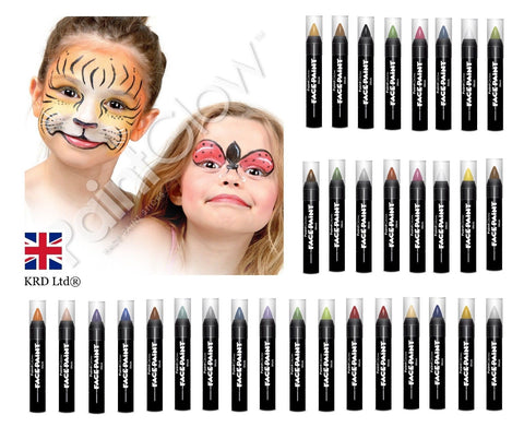 Sminke Stift - Face Paint Stick Ass.Farger - Festbutikken AS