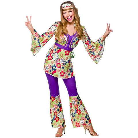 Hippie Chick Kostyme - Festbutikken AS