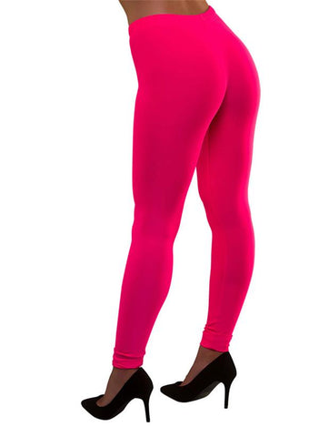 80's Neon Leggings Rosa - Festbutikken AS
