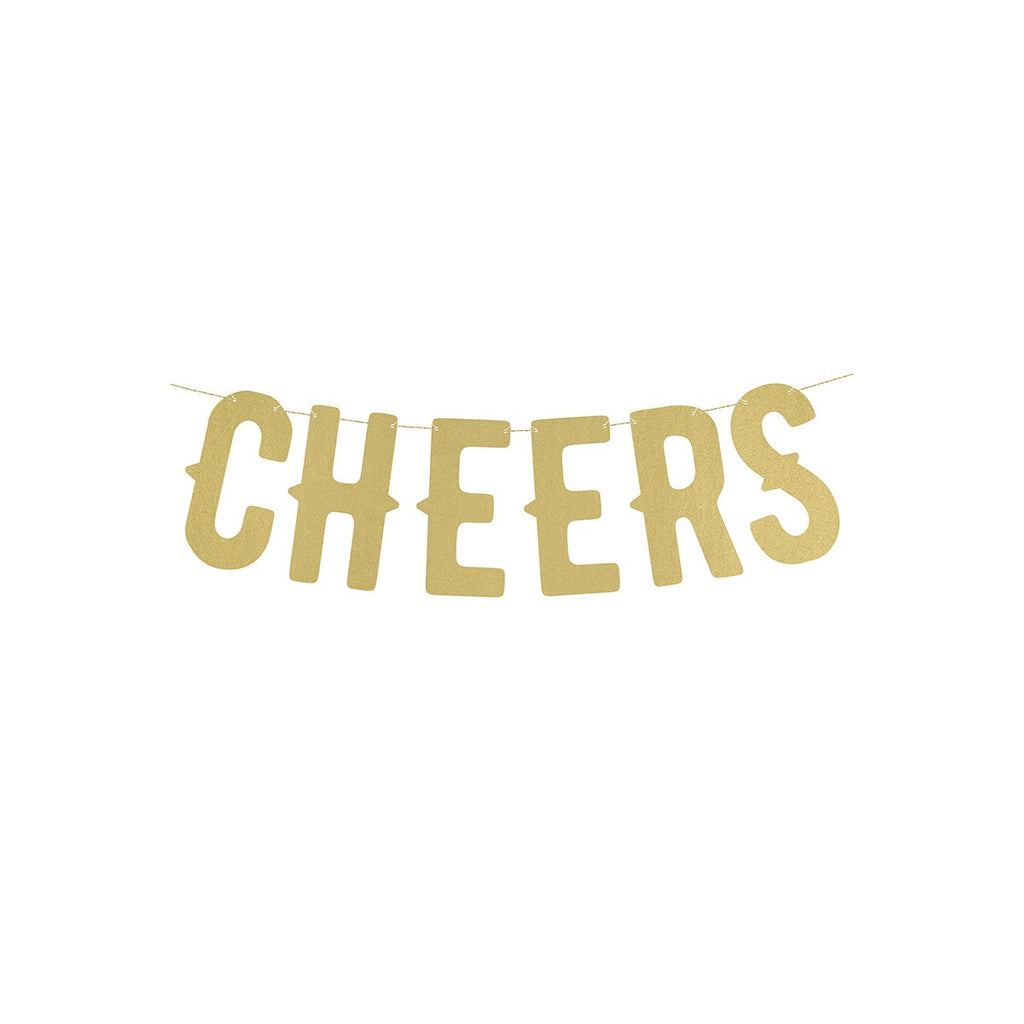 "Banner ""Cheers"" Gull - Festbutikken AS"