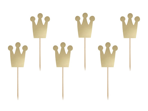 Cupcaketopper Princess Krone 6-pk - Festbutikken AS
