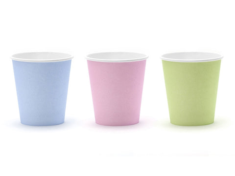 Pappkopper Pastel Love 6-pk - Festbutikken AS