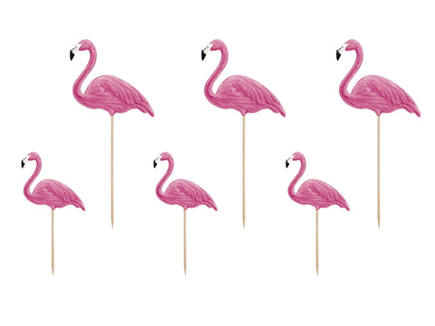Flamingo Toppers 6-pk - Festbutikken AS